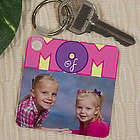 Personalized Mom Of Photo Key Chain