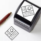 Personalized Diamond Initial Address Stamper