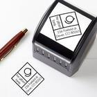 Personalized Diamond Initial Address Stamper
