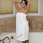 Ladies Personalized Terry Cloth Towel Wraps for Bath or Spa