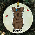 Personalized Ceramic Loved By My Yorkshire Terrier Ornament