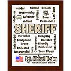 Sheriff Expressions Personalized Plaque