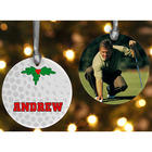 Porcelain Custom Photo Golf Christmas Ornament