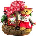 Cindy Socks Teddy Bear and Sweets Christmas Gift Basket