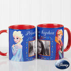 Personalized Disney Frozen Coffee Mug with Red Handle
