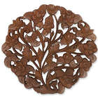 Rose Bouquet Teak Relief Panel