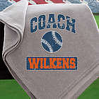 Coach's Personalized Sweatshirt Blanket