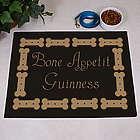 Personalized Bone Appetit Dog Food Mat