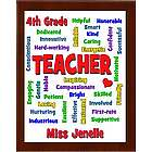 Teacher Expressions Personalized Plaque