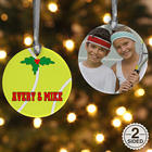 Porcelain Custom Photo Tennis Christmas Ornament