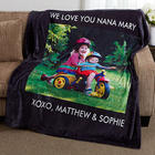 Picture Perfect Single Photo Personalized Fleece Blanket