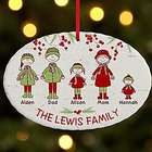 Personalized Cozy Family Ornament