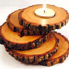 Spiral Wood Candle Holder