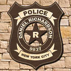 Classic Police Badge Personalized Wall Sign for Officers