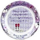 Personalized 'True Love' Wedding or Anniversary Plate
