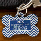 Pet's Personalized Dog Bone Chevron ID Tag