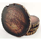4 Dark Stain Wood Coasters