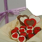 Chocolate Covered Oreo Cookie Hearts Gift Box