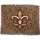 Tabasco Fleur De Lis & Peppers Throw