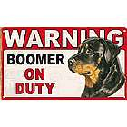 Personalized Dog Warning Sign