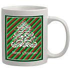 Personalized Tree with Stripes Christmas Coffee Mug