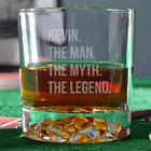 The Man, the Myth, the Legend Personalized Whiskey Glass
