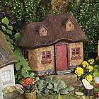 Miniature Stucco Fairy Garden Cottage with Thatched Roof