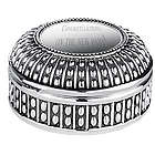 Beaded Antique Style Round Jewelry Box