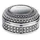 Beaded Antique Style Round Jewelry Box