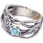 Opal Flowers Ring
