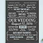 Personalized Marriage Milestones 16x20 Canvas Print