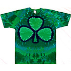 Green Shamrock Irish Tie Dye Tee Shirt