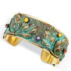 Nouveau Verdigris Cuff Bracelet