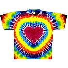 Rainbow Heart Tie Dye T Shirt