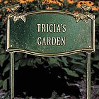 Vine and Chickadee Personalized Garden Plaque