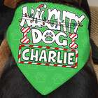 Personalized Naughty Dog Christmas Bandana