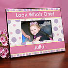 Personalized First Birthday Printed Picture Frame for Girls