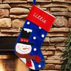 Smiling Snowman Personalized Stocking