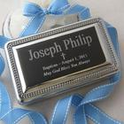Nickel-Plated Personalized Cross Memory Box