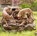 Lighted Foxes Woodland Fountain