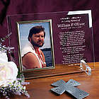 In Loving Memory Beveled Glass Picture Frame