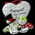 Snow Couple Engaged Personalized Ornament