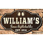 Famous Neighborhood Bar Personalized Sign