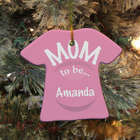 Personalized Ceramic New Mom Ornament