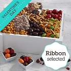 Favorite Nuts and Sweets Gift Crate with Valentine's Day Ribbon