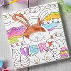 """Personalized 5.5"""" Easter Bunny Coloring Canvas Print"""