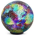 Illuminated Multi-Colored Mosaic Gazing Ball with Timer