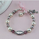 Freshwater Cultured Pearl Engravable Personalized Bracelet