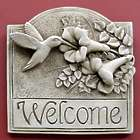 Hummingbird Welcome Wall Plaque