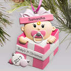 Personalized Special Delivery Girl Ornament